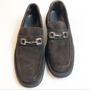 Gucci Horsebit Suede Classic Loafer Slip On Brown